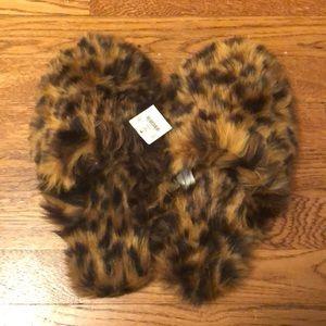 J Crew Cheetah/ Leopard Slippers
